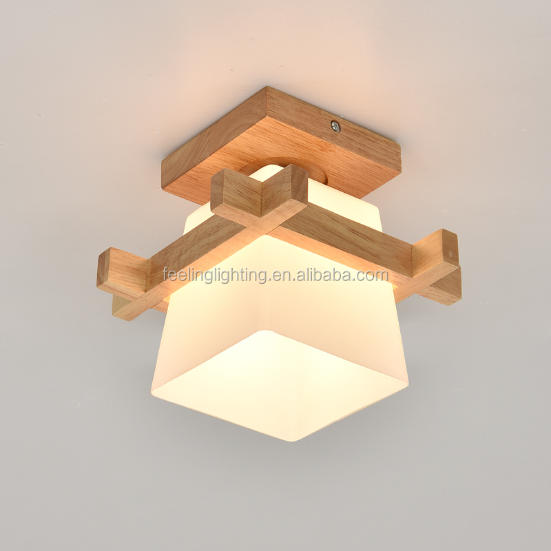 venta caliente de madera nrdica sola cabeza dormitorio e lmpara de techo para