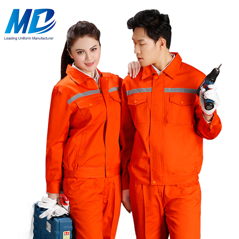 Wholesale Custom TC Fabric Winter <strong>Orange</strong> Work Overalls For Men And Women