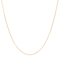 Wholesale pure sterling 925 silver jewelry necklace fashion simple gold plated chain