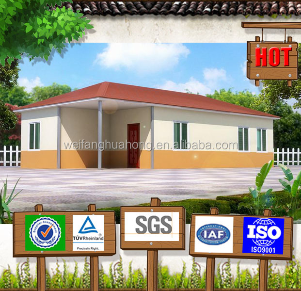 Competive! nice design pvc prefabricated house with foamed cement board