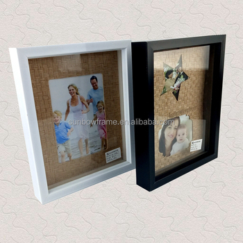 White Black Wood Color Decorative Shadow Box Photo Frame 8x10