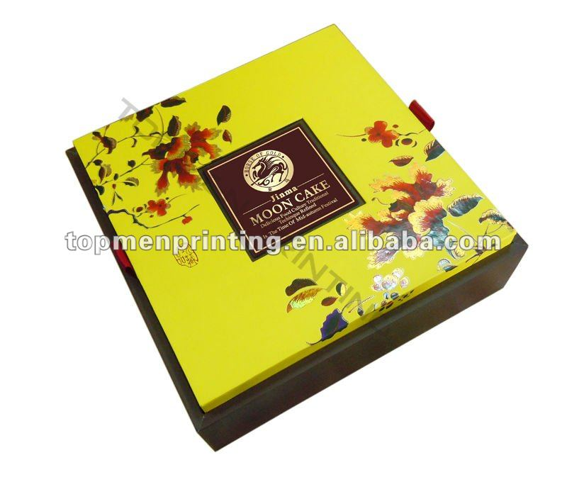 Colorful Printing Paperboard Gift Box For Mooncake