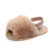 New arrival plush design soft baby girl sandals
