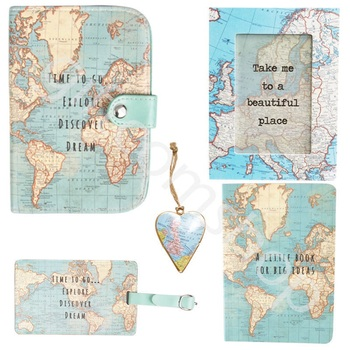 Vintage style world map passport holder cover travel wallet card vintage style world map passport holder cover travel wallet card holder gumiabroncs Images