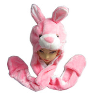 Custom Cute Plush Rabbit Animal Hat