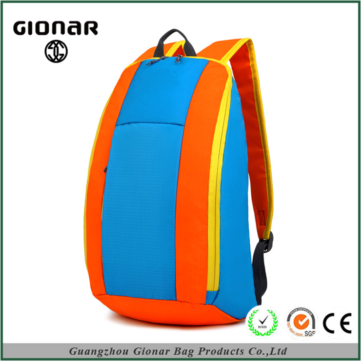 Factory Direct Price Colorful School Students Folding Lightweight Sky Blue Travel 3D Backpack