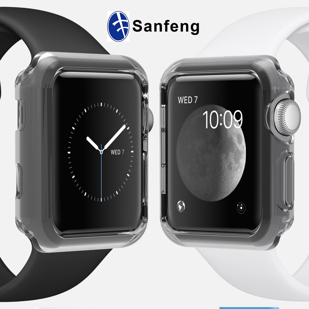 Wholesale Tpu Bumper Protective Case Cover For Apple Watch Series 2 38mm Black 42mm
