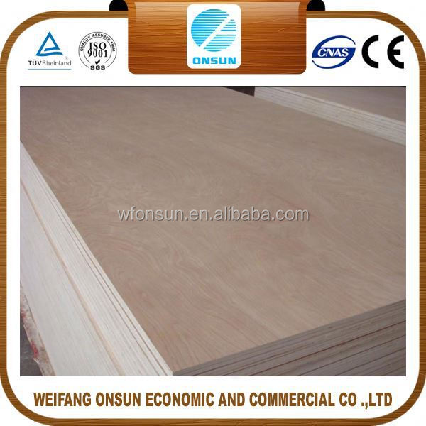 best selling reliable quality ood quality with 1220x2440mm plywood from China factory