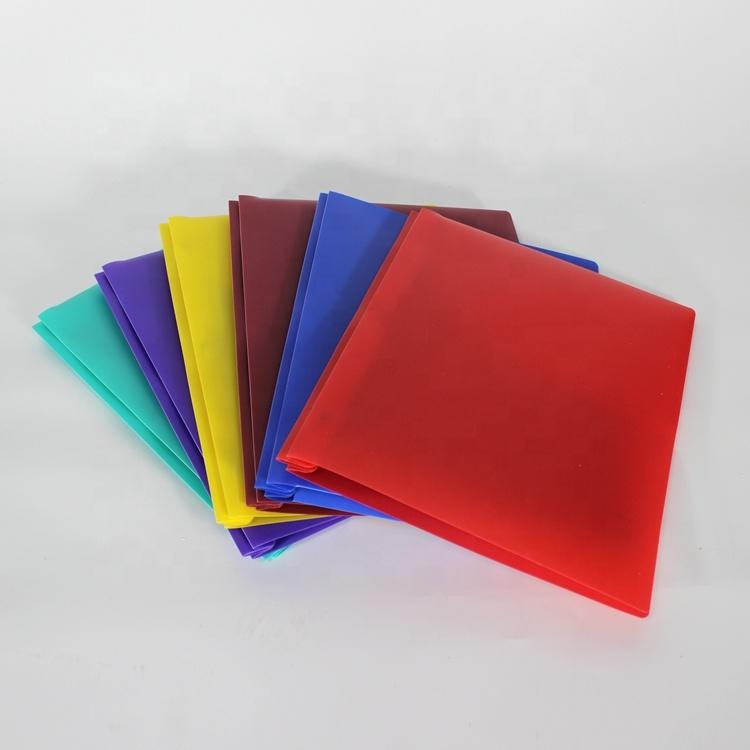 2019 थोक सबसे अच्छी कीमत रंगीन a4 एल आकार प्लास्टिक पारदर्शी कस्टम पीपी फ़ाइल फ़ोल्डर