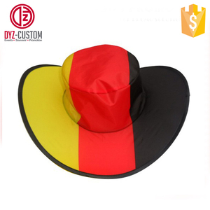 520ae9fab Custom logo printing foldable polyester cowboy hat for promotion