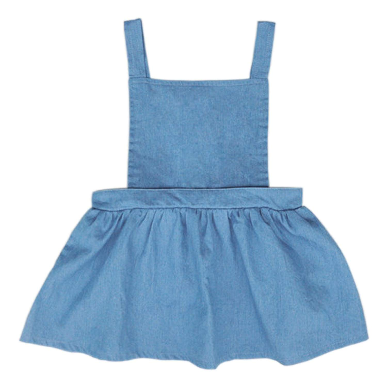 331c72e5e Get Quotations · YOHA Baby Girls Denim Soft Jumper Dress Suspender Skirts  Pinafore Tutu Dress