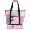 Wholesale Mesh Beach Tote Bag with Insulated Picnic Cooler compartment orignal factory