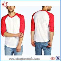 Alibaba Wholesale UK Fashion Men 3/4 Length T Shirt Design Custom Mens T Shirts
