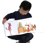 Custom child book printing big size hardcover board book picture story books for children educational