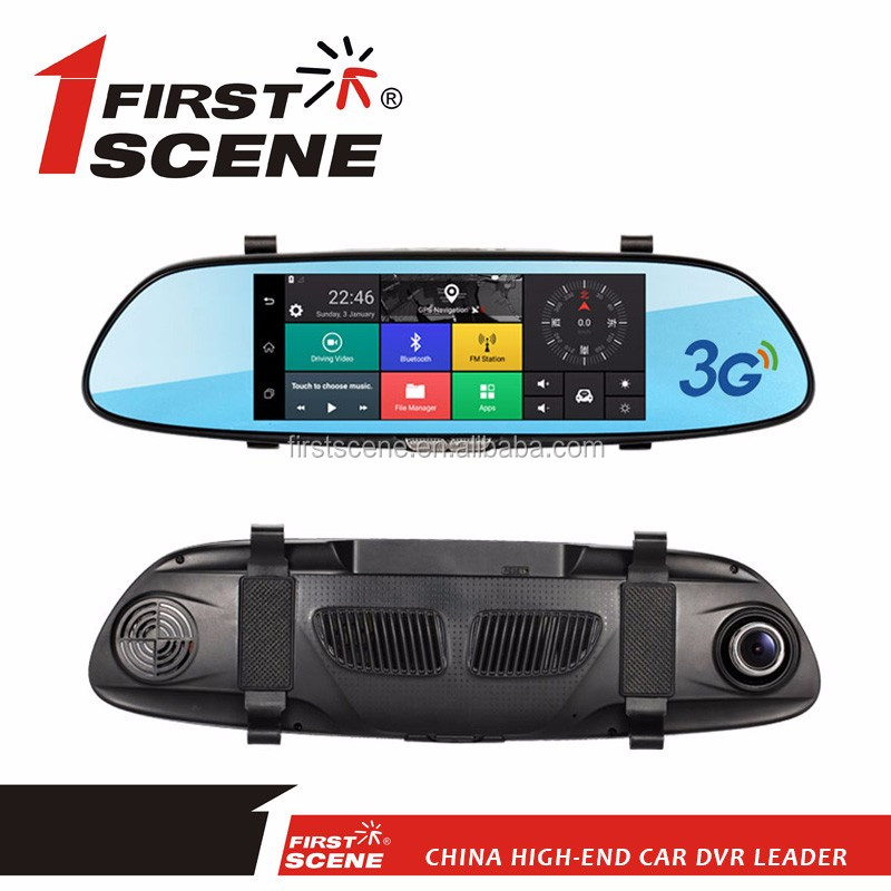 Factory price dual car dvr dash camera 360 degree with 7'' screen
