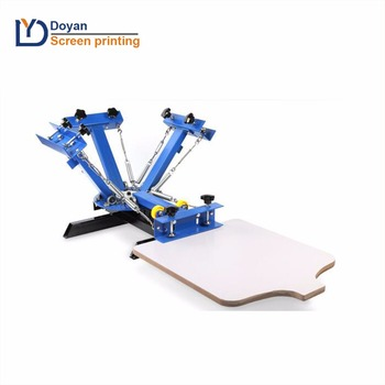 0711a2d2 4 color 1 station silk screen printing machine t-shirt printer press  equipment