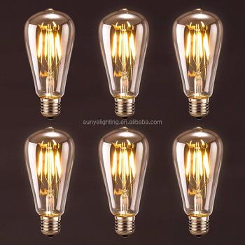 Antique Led Bulb St64 Vintage Edison Light Lighting E26 E27 Bulbs