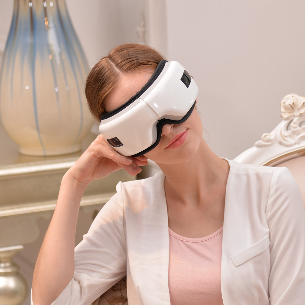 Foldable Wireless Magnetic eye Massage Therapy Device