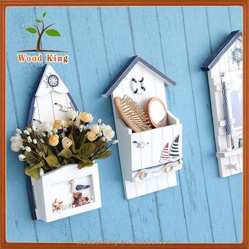 Pine Mediterranean Style Key Box Creative Wooden Household ...