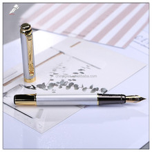 Customized logo gentleman silver metal pen dragon clip fountain pen