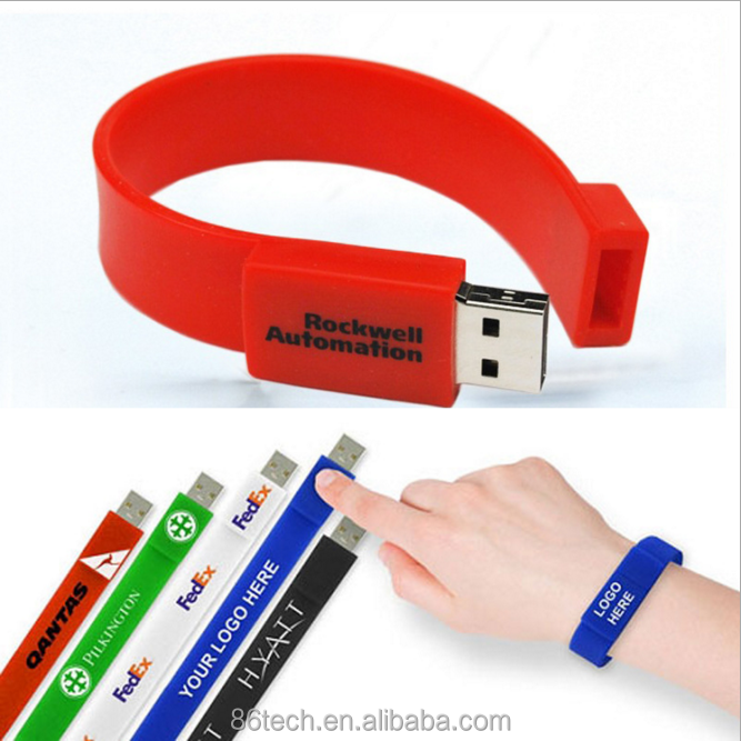 Promotional Product Gifts Custom Usb Wrist Band Usb 8Gb 16Gb 32Gb Flash Drive