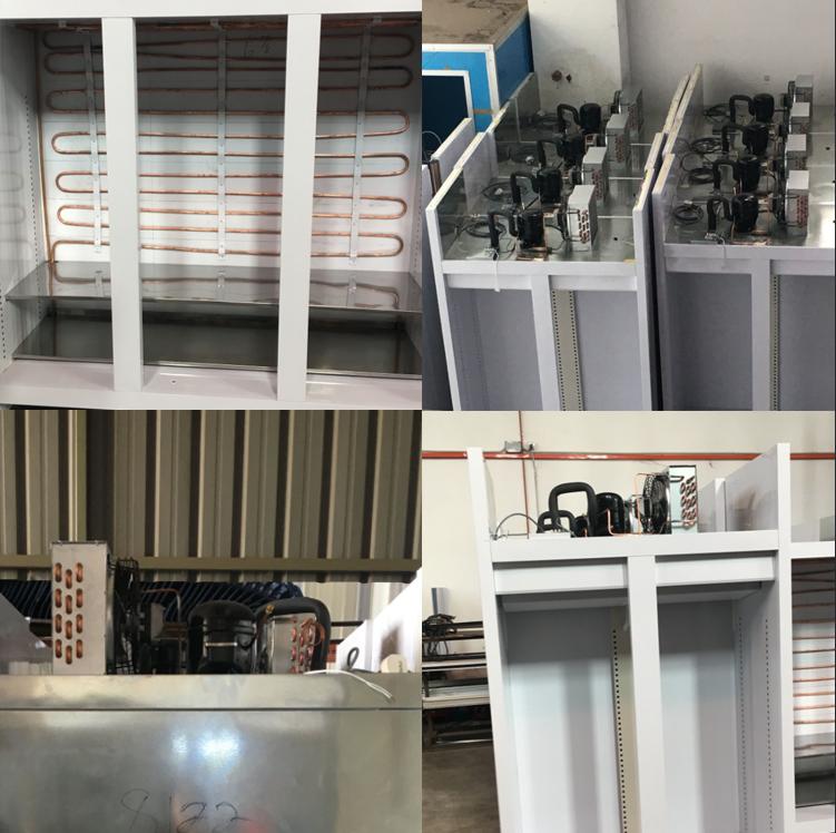 FNA-0.8 / 3.4 ชิ้นส่วนเครื่องทำความเย็นแอพลิเคชันและการรับรอง CE คอนเดนเซอร์ระบายความร้อนด้วยอากาศสำหรับห้องเย็น