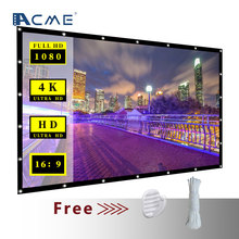 Factory Wholesale Display Matte white wholesale outdoor wall mount soft foldable outdoor portable projection screen