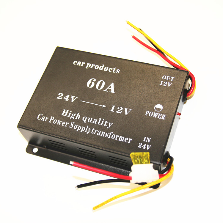 DC24V to DC12V 60A Car Power Supply Transformer 60A Step Down Converter