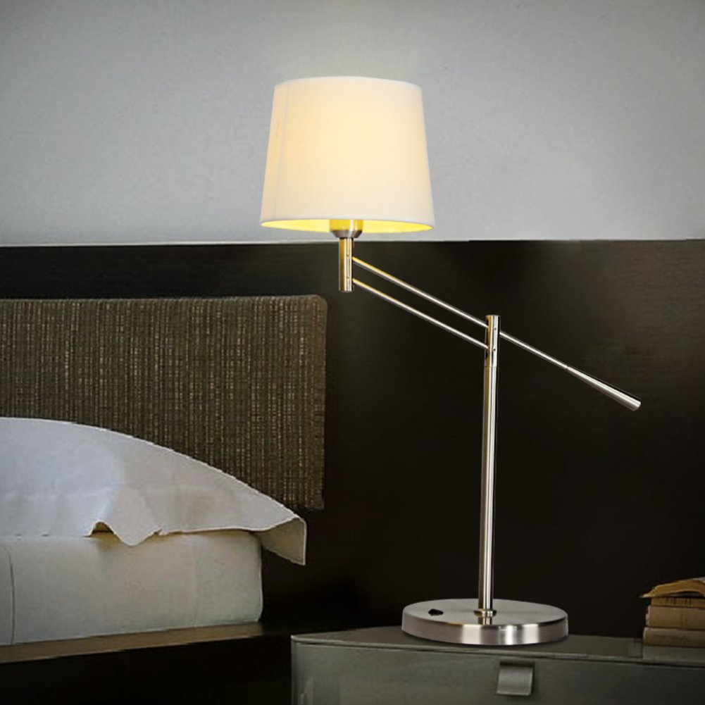 Scandinavian modern and simple folding desk lamp/ Office study desk lamp/Creative personality living room bedroom bedside lamp-A