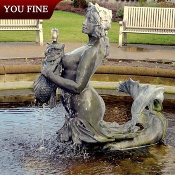 Genial Outdoor Bronze Mermaid Statue Fountain
