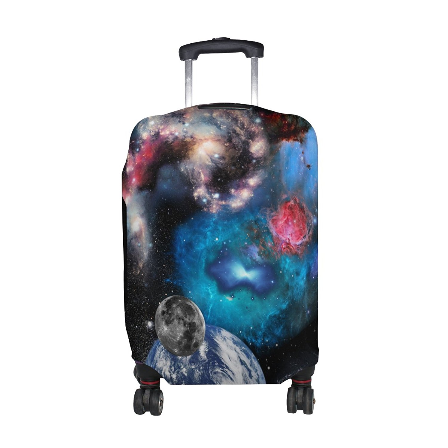 LEISISI Planets And Galaxies In Space Protector Cover Elastic Suitcase Cover Luggage Cover Protector M 23-26 inch