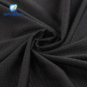 China Factory Textured black spandex nylon elastic jersey shapewear fabrics