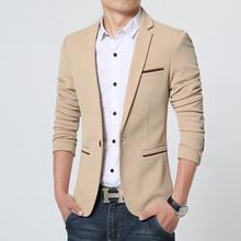 2015 New Arrival Luxury Men Blazer New Spring Fashion Brand High Quality Cotton Slim Fit Men Suit Terno Masculino Blazers Men