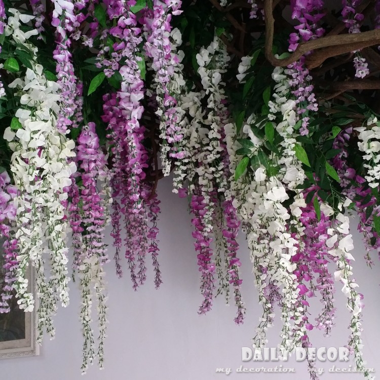 20pcs lot longer artificial wisteria flowers wedding arch decorative flowers home flower vine. Black Bedroom Furniture Sets. Home Design Ideas