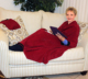 Super Soft Coral Fleece Snuggie Blanket With Oversized Sleeves And Pockets