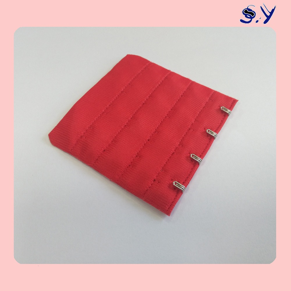 SHIYI Underwear Accessories Bra hook and eye tape Red 4x4