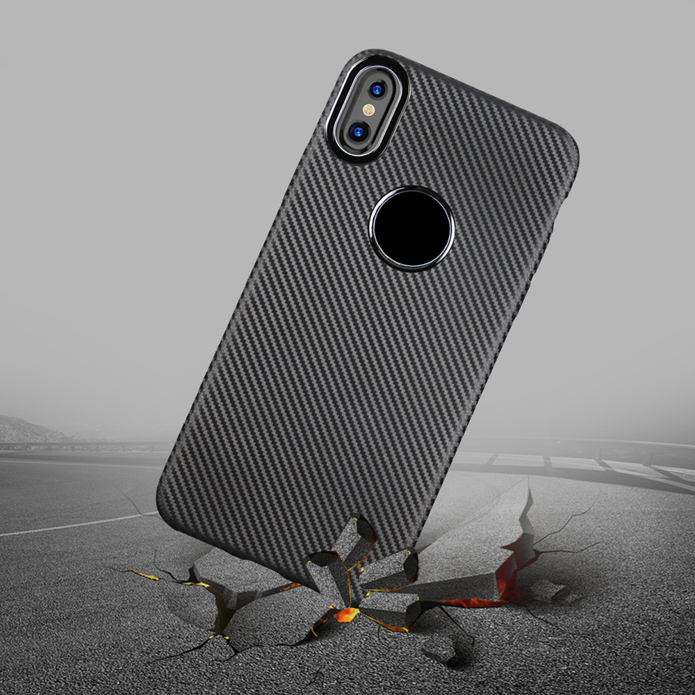 Newest Carbon Fiber Flexible Soft TPU 360 Full Protective Mobile Phone for iPhone X