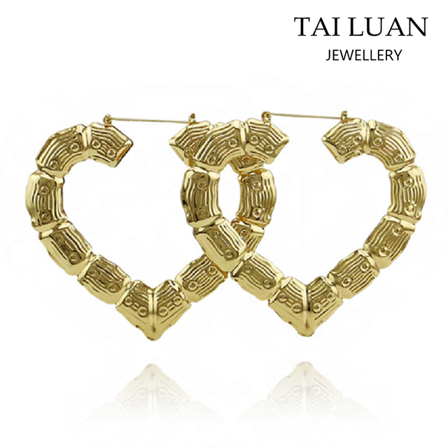 China Bamboo Earring Heart Shapes Wholesale 🇨🇳 - Alibaba