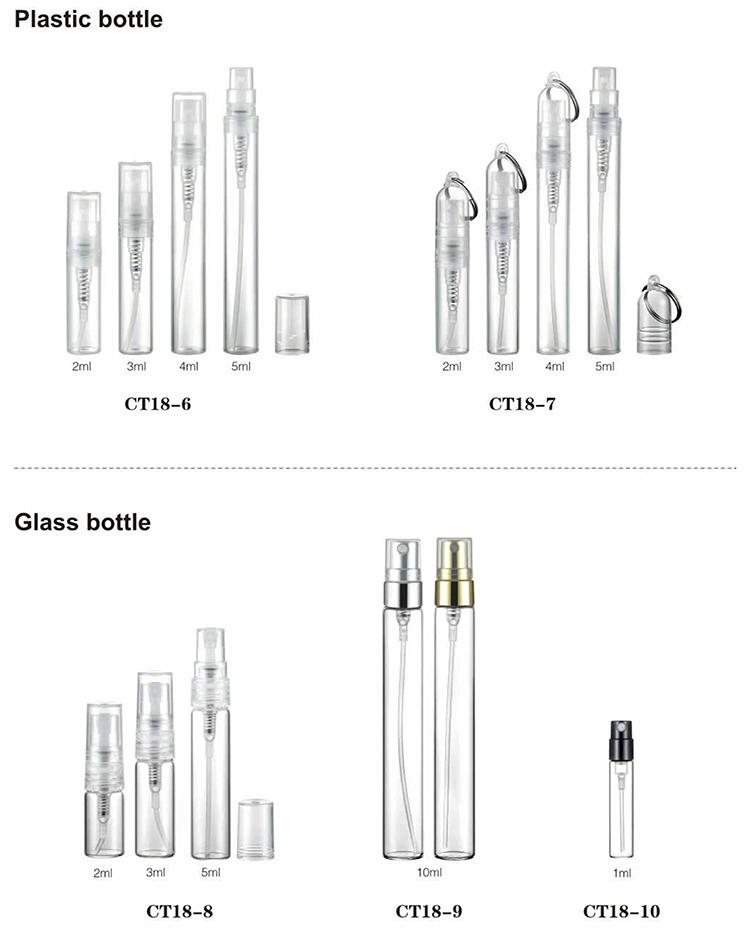 7 ml caneta garrafa pulverizador atomizador de perfume de plástico para uso diário
