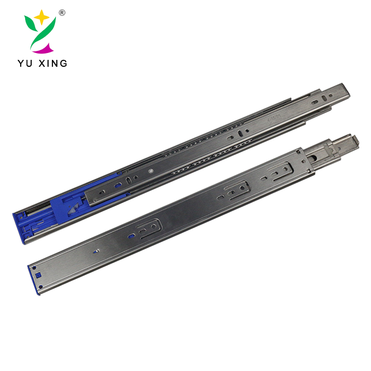 45mm Stainless steel 304 ball bearing furniture rebound drawer slider rail