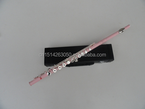FL-C16CEPNA Coloured Irish Flute with Pink Surface and Nickel Plated Keys