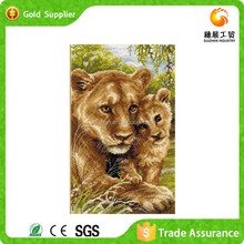 Wholesaler of painting supply club decoration painting cross stich diamond ambitious lioness oil painting