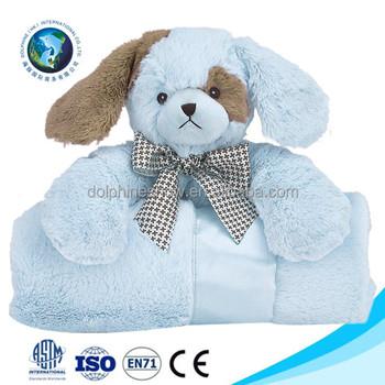 Low Moq Cute Stuffed Animal Plush Boy Dog Toy Baby Blanket Fashion