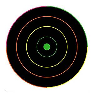 "Elitek(TM) 20 Pack - 12"" Fluorescent Bullseye Gun and Rifle Targets,Multi Color Visible Hits Shooting Target"