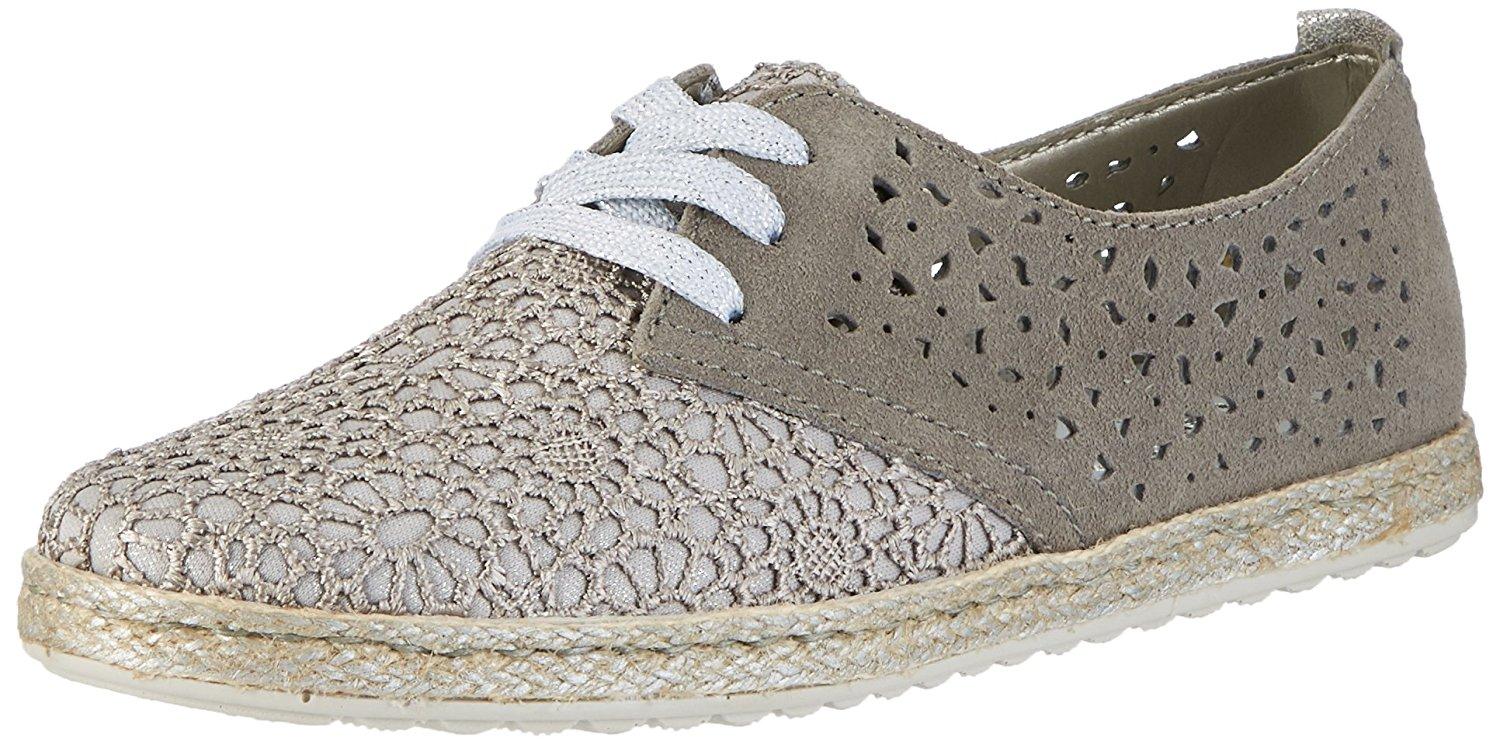 1e99c04e0c93e ... pacific/ocean/royal/steel made of synthetic. Get Quotations · Rieker  womens lace up shoes dust-silver/dust/oldsilver