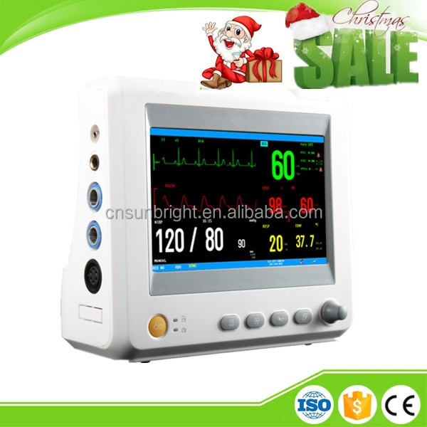 6 Standard parameters 502k real time S-T segment analysis economic multipara patient monitor
