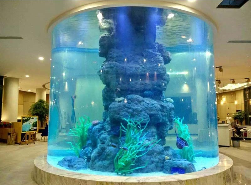 2019 Hot Selling New Style oval acrylic aquarium