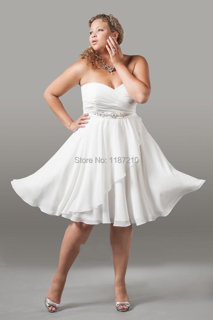 Plus Size Short Beach Wedding Dresses - Dresses for Wedding