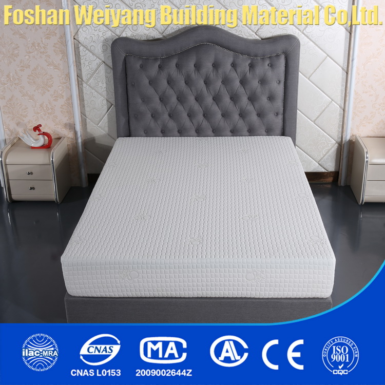 WY15-FQ Anion fabric fireproof gel memory foam royal mattress for hotel bedroom