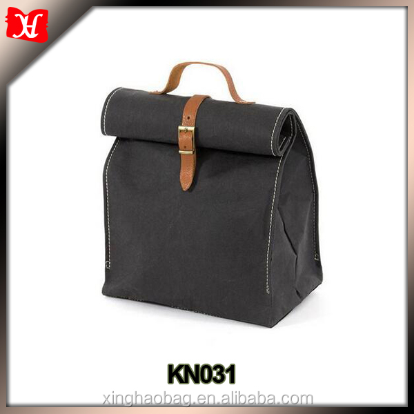 Durable And Reusable waxed canvas lunch bag for men